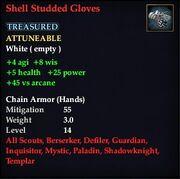 Shell Studded Gloves