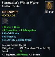 Stormcaller's Winter Weave Leather Pants