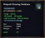 Warped Glowing Necklace