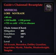 Guide's Chainmail Breastplate