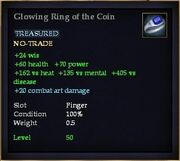 Glowing Ring of the Coin