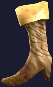 Warg-striped hanging boot (Visible)