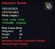 Oakwind's Tonlets