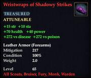 Wristwraps of Shadowy Strikes
