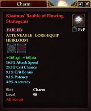 Klaatuus' Bauble of Flowing Strategems