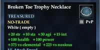 Broken Toe Trophy Necklace