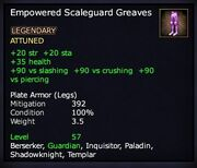 Empowered Scaleguard Greaves