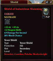 Shield of Industrious Slamming