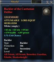 Buckler of the Caertaxian Defiler
