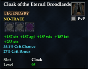Cloak of the Eternal Broodlands