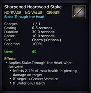 Sharpened Heartwood Stake