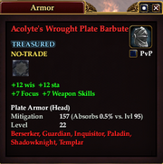 Acolyte's Wrought Plate Barbute