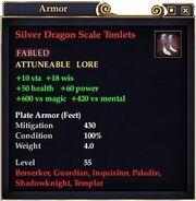Silver Dragon Scale Tonlets