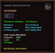 Aphotic Stitched Shroud