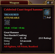 Coldwind Coast forged hammer