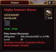 Mighty Footman's Bracers