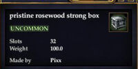 Pristine rosewood strong box