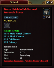 Tower Shield of Malformed Werewolf Bones