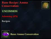 Rune Recipe- Ammo Conservation