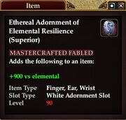 Ethereal Adornment of Elemental Resilience (Superior)