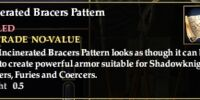 Incinerated Bracers Pattern