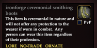 Ironforge ceremonial smithing boots