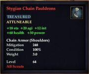Stygian Chain Pauldrons