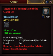 Vagabond's Breastplate of the Gambler