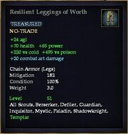Resilient Leggings of Worth