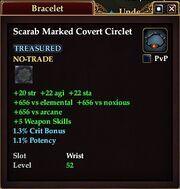 Scarab Marked Covert Circlet