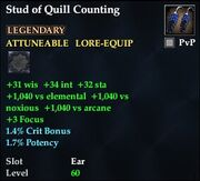 Stud of Quill Counting