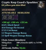 Cryptic Keep Guard's Spaulders