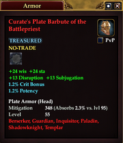Curate's Plate Barbute of the Battlepriest
