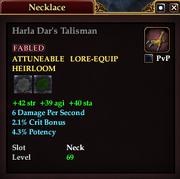 Harla Dar's Talisman