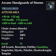 Arcane Handguards of Storms