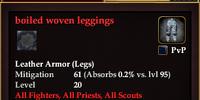 Boiled woven leggings