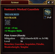 Footman's Worked Gauntlets