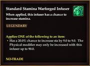 Standard Stamina Warforged Infuser