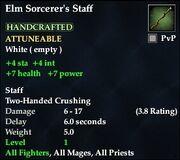 Elm Sorceror's Staff