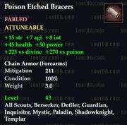 Poison Etched Bracers