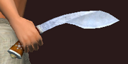 Runic Kukri of the Fury (Equipped)