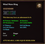 Wind Worn Ring