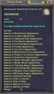 Alchemist Essentials Volume 44