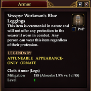 Vesspyr Workman's Blue Leggings