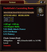 Darkblade's Lacerating Boots