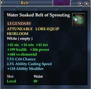 Water Soaked Belt of Sprouting