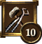 Achievement Icon hammer-and-tongs 10