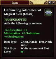 Glimmering Adornment of Magical Skill (Lesser)
