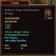 Stalker's Cape of Enchanted Energy