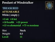 Pendant of Windstalker